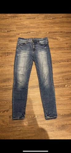 american eagle Jeans taille haute bleu
