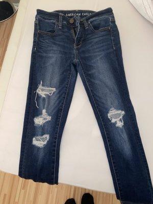 american eagle Jeans skinny bleu foncé-bleu