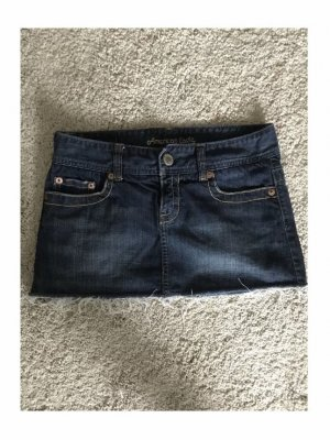 american eagle Jupe en jeans bleu foncé-bleu