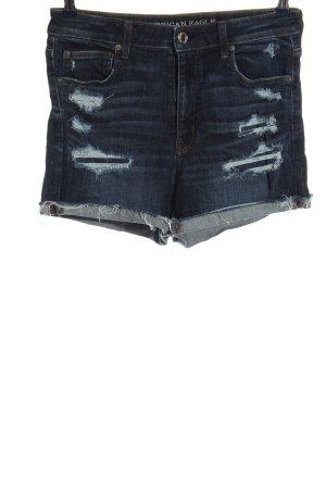 american eagle Short en jean bleu style décontracté