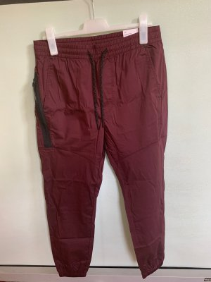 American Eagle Outfitters Sweat Pants bordeaux-black