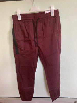 American Eagle Outfitters Pantalón deportivo burdeos-negro