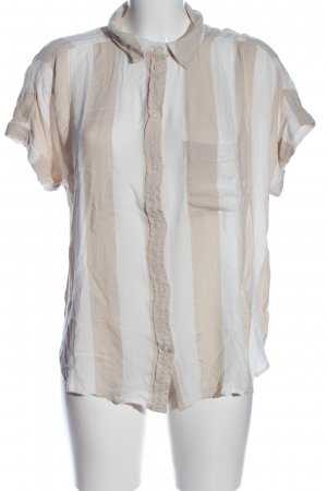 american eagle Short Sleeve Shirt white-natural white striped pattern