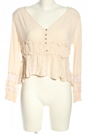 american eagle Long Sleeve Blouse pink casual look
