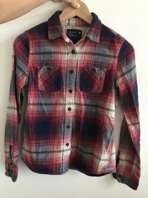 American Eagle Outfitters 2 34 xs kariert flannel blau rot weiß