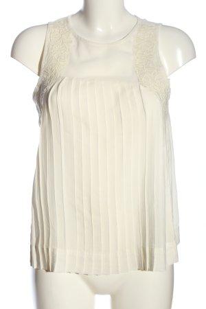 American Eagle Outfitters Bluzka bez rękawów w kolorze białej wełny
