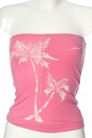 American Eagle Outfitters Bandeau top roze prints met een thema