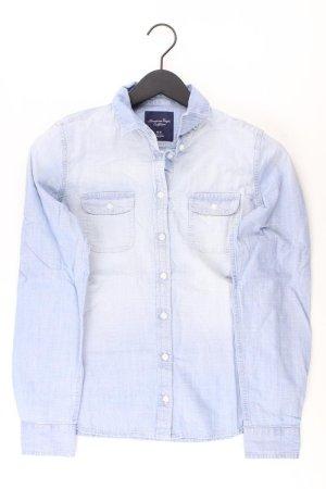 American Eagle Outfitters Blouse blauw-neon blauw-donkerblauw-azuur Katoen
