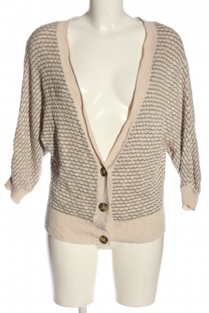 American Eagle Outfitters Cardigan wollweiß-braun Webmuster Casual-Look