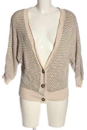 American Eagle Outfitters Cárdigan blanco puro-marrón Patrón de tejido