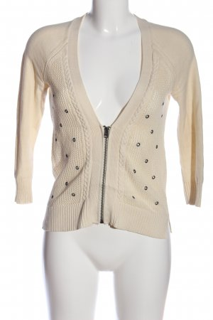 American Eagle Outfitters Cardigan natural white cable stitch casual look