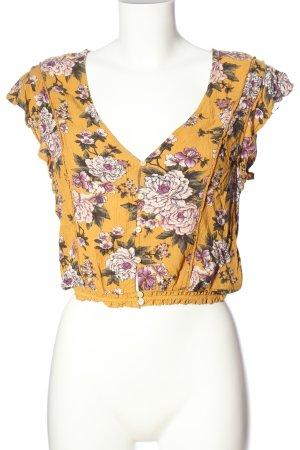 American Eagle Outfitters Koszula o skróconym kroju Wzór w kwiaty
