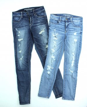 American Eagle Outfitters Jeans skinny bleuet coton