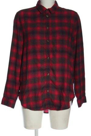 American Eagle Outfitters Chemise en flanelle rouge-noir imprimé allover