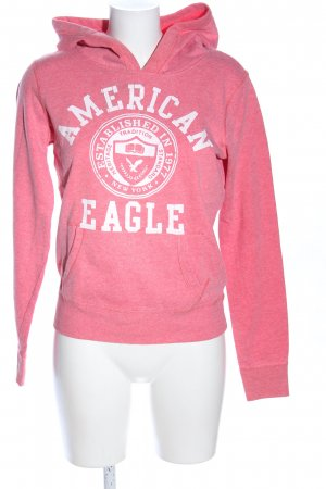 American Eagle Outfitters Fleece trui roze-wit gestippeld casual uitstraling
