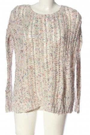 American Eagle Outfitters Grobstrickpullover wollweiß meliert Casual-Look