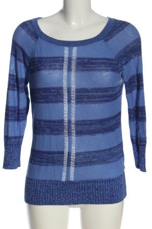 American Eagle Outfitters Pull en crochet bleu motif rayé style décontracté
