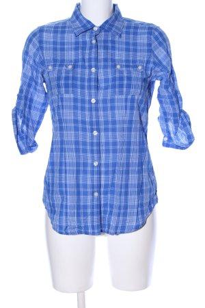 American Eagle Outfitters Blouse-chemisier bleu-blanc motif à carreaux