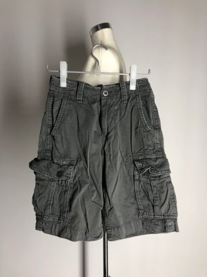 American Eagle Outfitters High-Waist-Shorts grey cotton