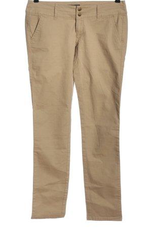 American Eagle Outfitters pantalón de cintura baja crema look casual