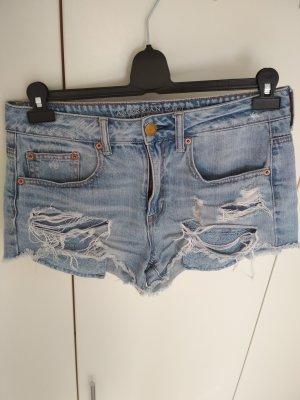 American Eagle Outfitters Pantaloncino di jeans azzurro