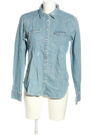 American Eagle Outfitters Jeansowa koszula niebieski W stylu casual