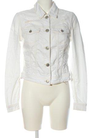 American Eagle Outfitters Veste en jean blanc style décontracté