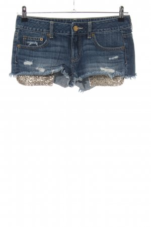 American Eagle Outfitters Spijkershort blauw-goud casual uitstraling