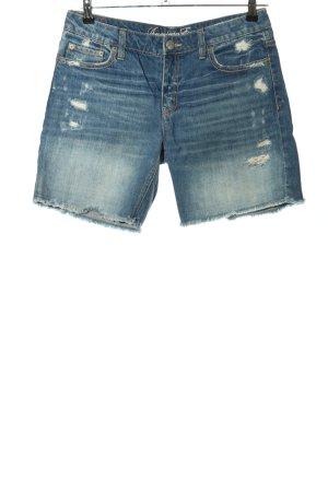 American Eagle Outfitters Pantalón corto de tela vaquera azul look casual