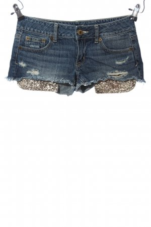 American Eagle Outfitters Short en jean bleu-bronze style décontracté