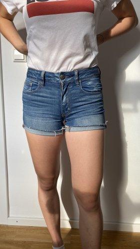American Eagle Outfitters Jeansowe szorty stalowy niebieski