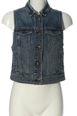 American Eagle Outfitters Gilet en jean bleu style décontracté