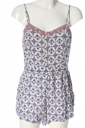 American Eagle Outfitters Jumpsuit wolwit-blauw volledige print