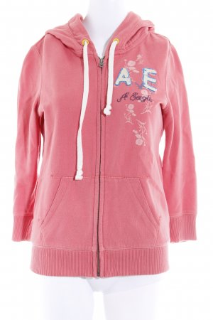 American Eagle Outfitters Sweatshirt met capuchon zalm casual uitstraling