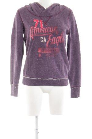 American Eagle Outfitters Sweatshirt met capuchon lila gestippeld