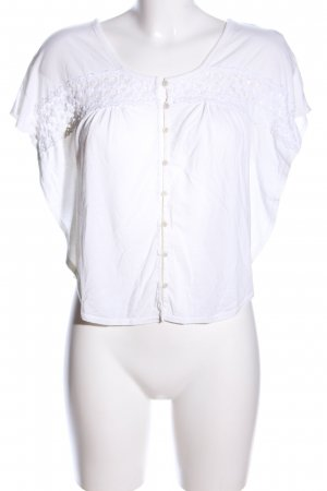 American Eagle Outfitters Blouse met korte mouwen wit casual uitstraling