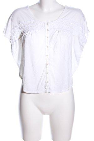 American Eagle Outfitters Blouse à manches courtes blanc style décontracté