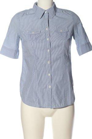 American Eagle Outfitters Chemise à manches courtes bleu-blanc motif rayé