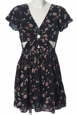 American Eagle Outfitters Shortsleeve Dress black-pink allover print casual look