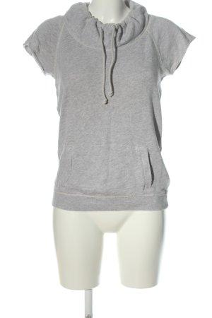 American Eagle Outfitters Sweater met korte mouwen lichtgrijs gestippeld