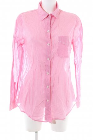 American Eagle Outfitters Long Sleeve Blouse pink striped pattern business style