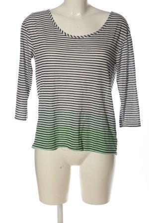 American Eagle Outfitters Koszulka z długim rękawem biały-czarny Gradient