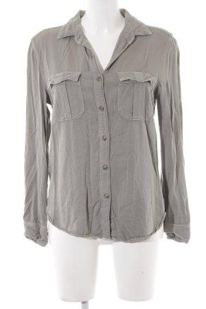 American Eagle Outfitters Shirt met lange mouwen lichtblauw boyfriend stijl