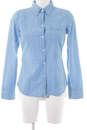 American Eagle Outfitters Langarmhemd kadettblau-wollweiß Streifenmuster