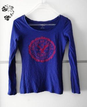 American Eagle Outfitters Langarmshirt Blau Gr. S