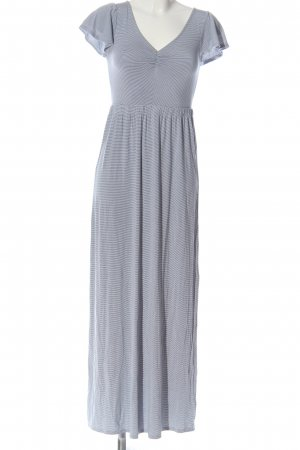 American Eagle Outfitters Maxi-jurk wit-blauw gestreept patroon