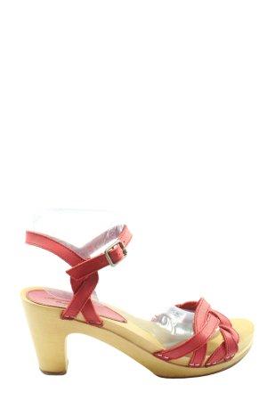 American Eagle Outfitters Sandales à talons hauts et plateforme rouge