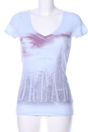 American Eagle Outfitters Shirt met print blauw prints met een thema