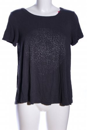 American Eagle Outfitters Shirt met print zwart abstract patroon