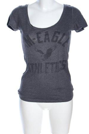 American Eagle Outfitters Shirt met print lichtgrijs-zwart gestippeld